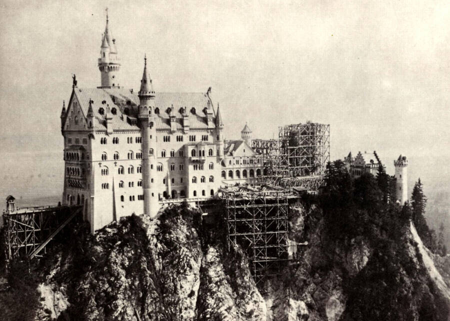 Construction Of The Disney Castle In Germany
