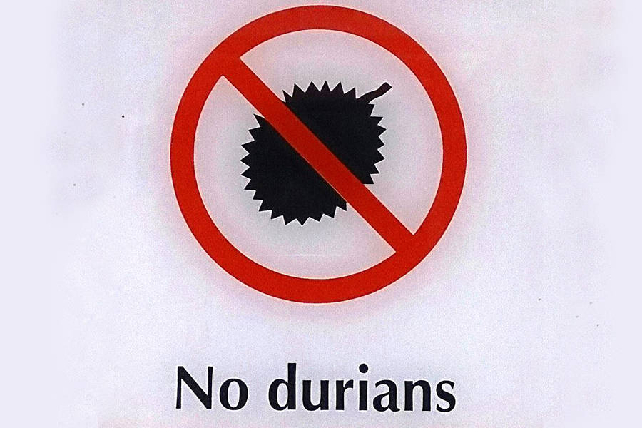 No Durian Transit Sign