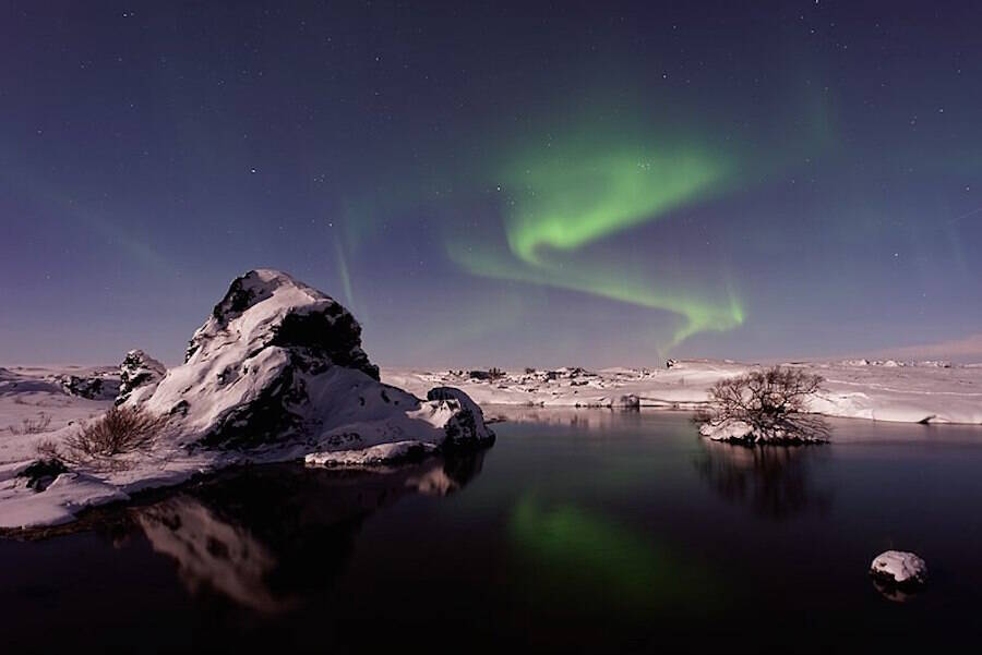 Northern Lights Dance Over Iceland