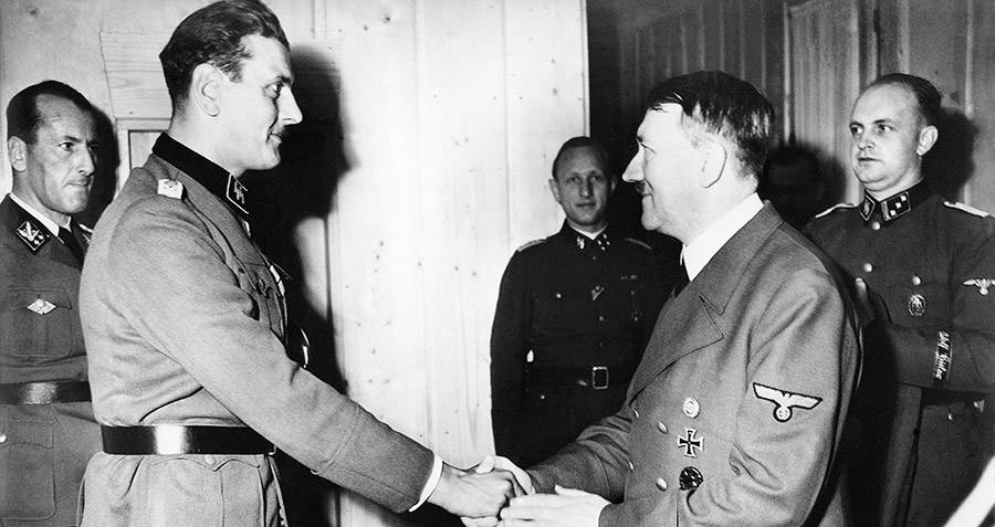 Adolf Hitler Awards Otto Skorzeny The Knight's Cross