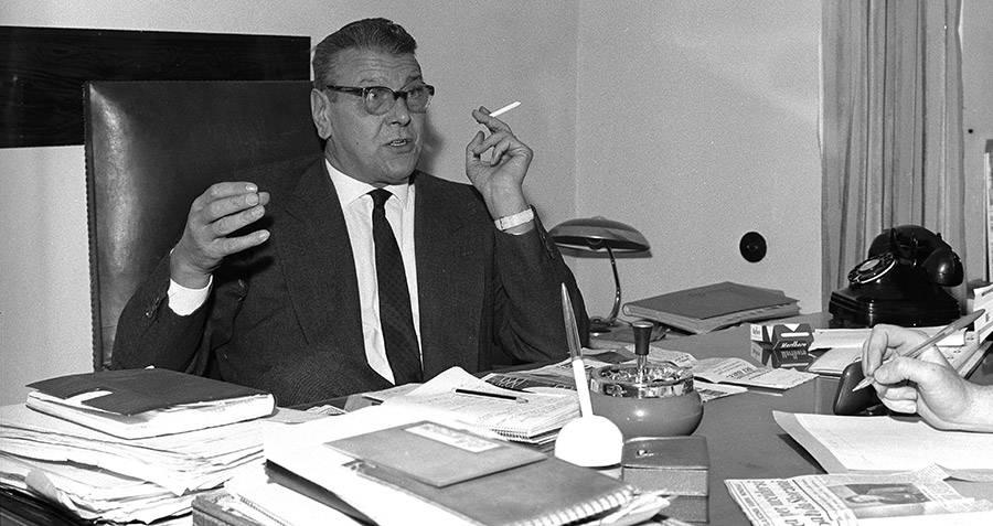 Otto Skorzeny In Office