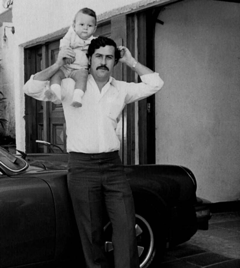 Pablo Escobar And His Son