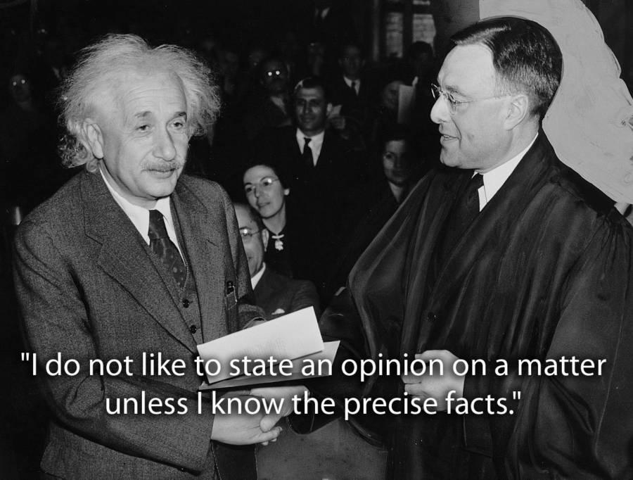 Albert Einstein Quotes About Facts