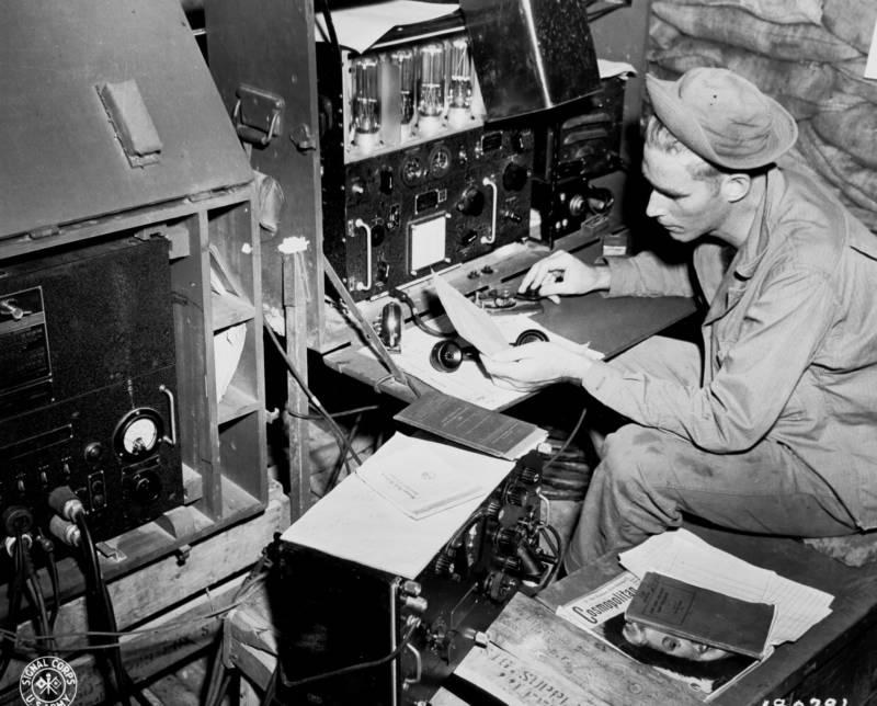 Radio Transmitter During World War 2