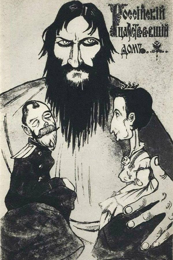 Death Of Rasputin Political Cartoon