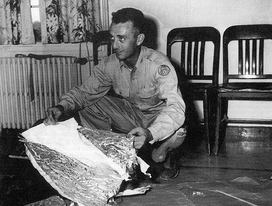 Jesse Marcel At The Roswell Incident