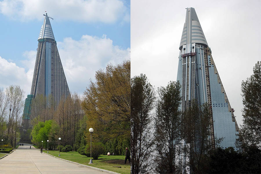 Ryugyong Hotel After Reconstruction