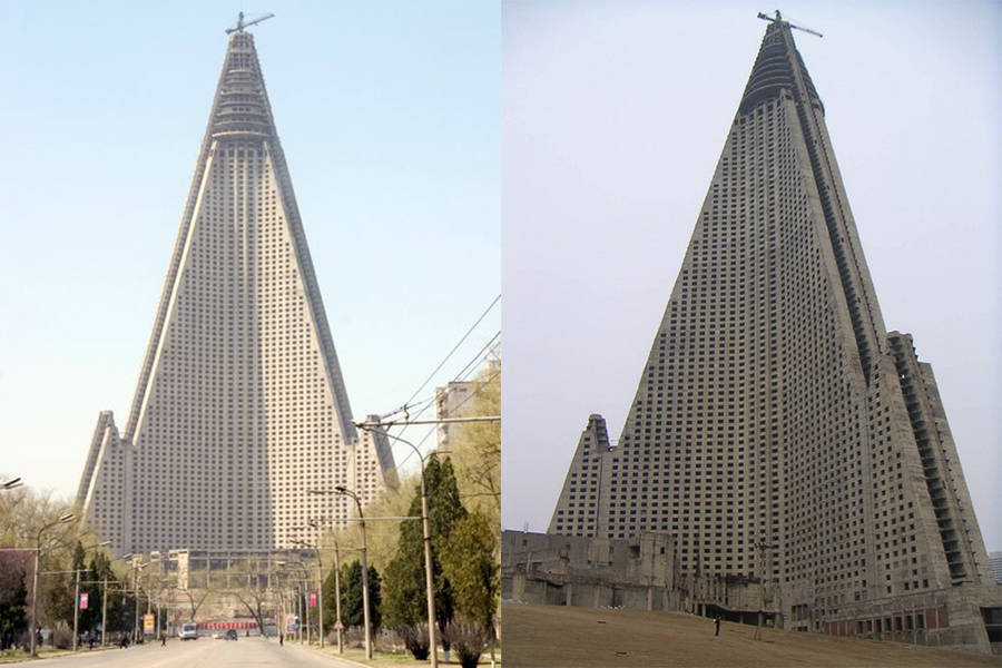 Ryugyong Hotel In 2003