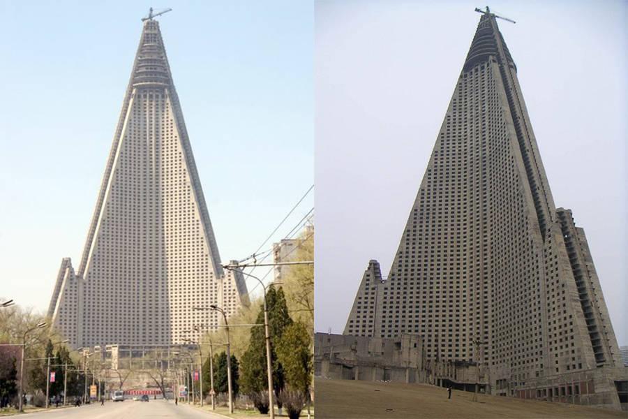 Ryugyong Hotel Beginning Construction