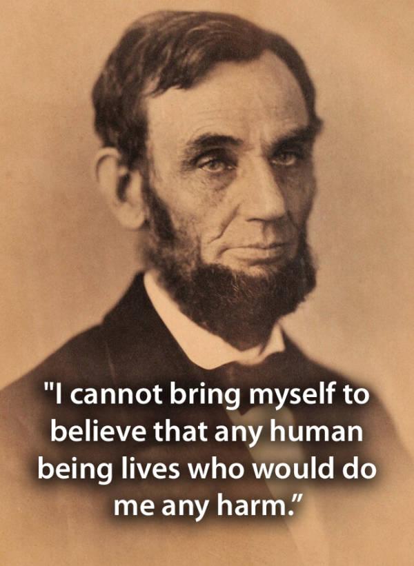 Sepia Portrait Of Lincoln