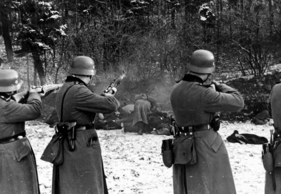 Germans Shooting Poles