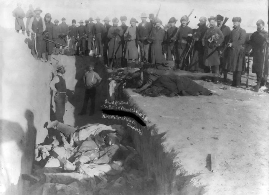 Sioux Mass Grave After Wounded Knee