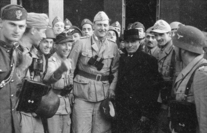 Otto Skorzeny And Benito Mussolini