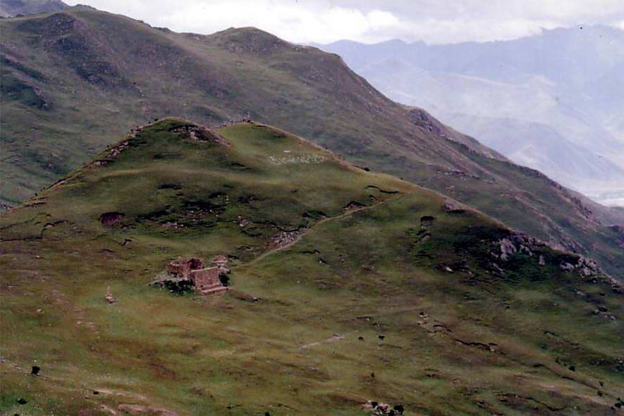 Sky Burial Site Tibet