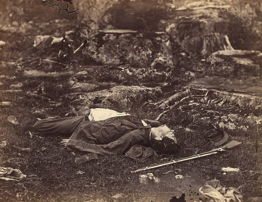 Soldier Dead With Rifle