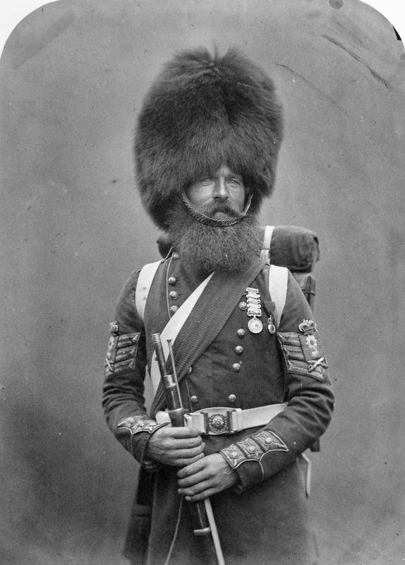 Soldier With Large Headwear
