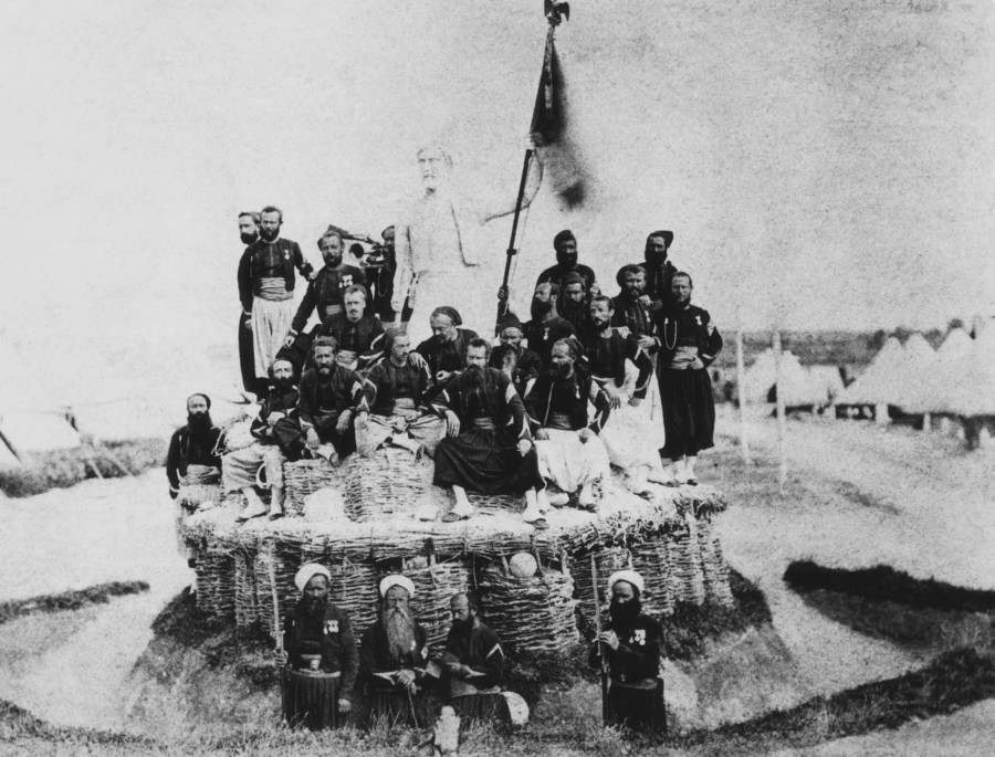Soldiers Posed With Flag