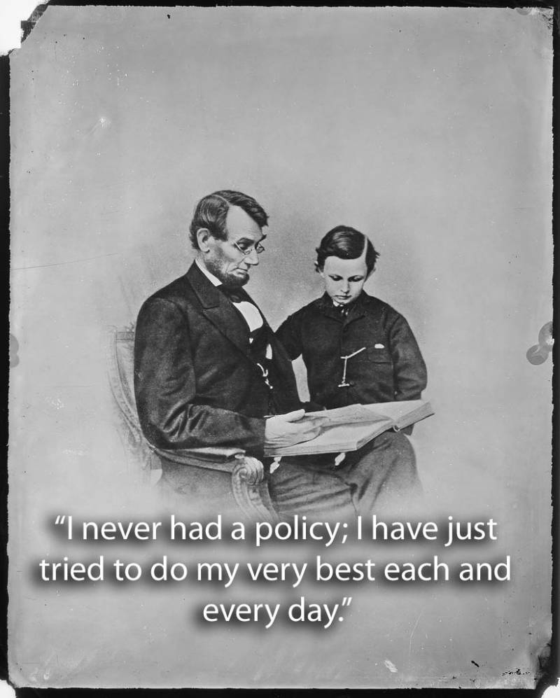 Lincoln With Son