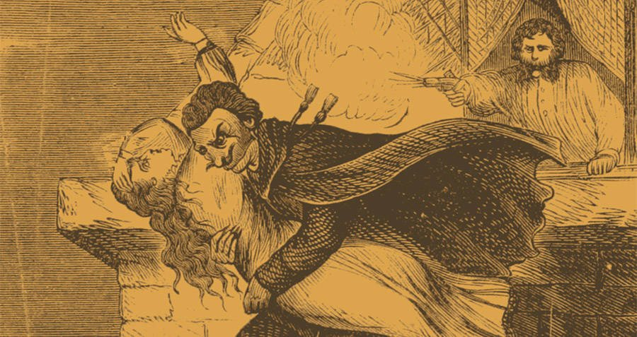 Spring-Heeled Jack Kidnapping A Woman