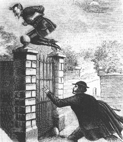 Illustration Of Spring-Heeled Jack