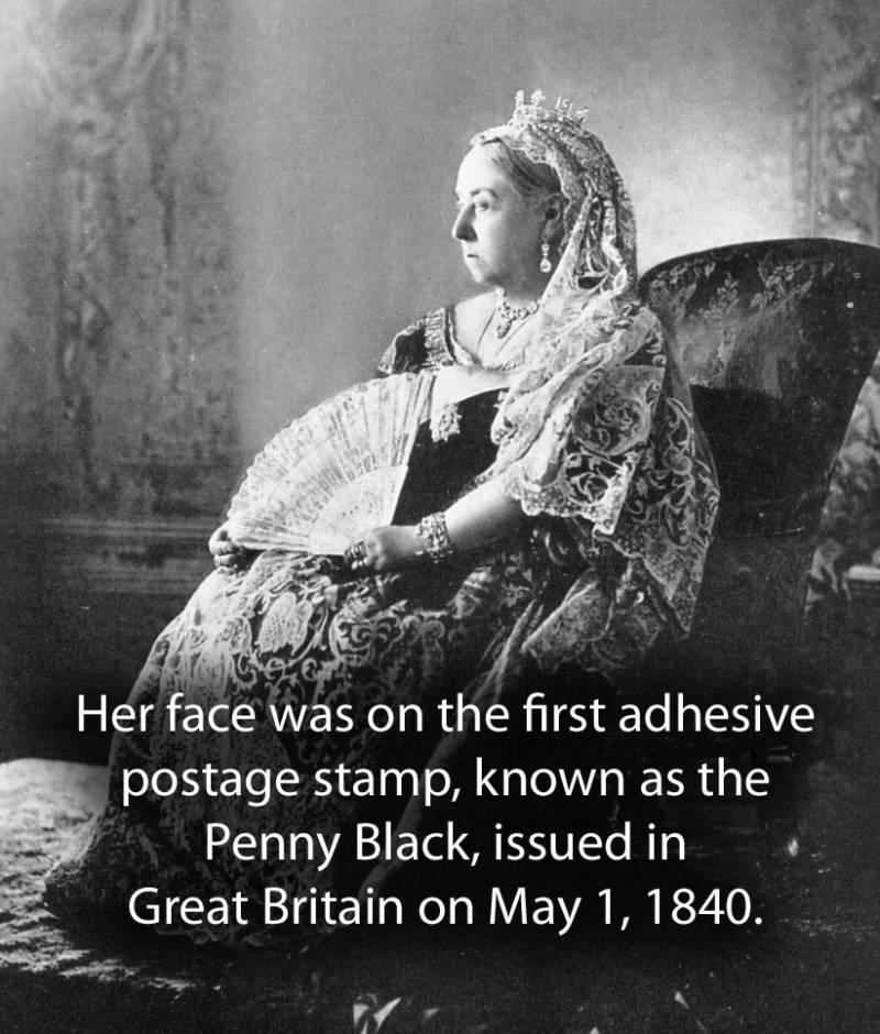 Queen Victoria Holding Fan