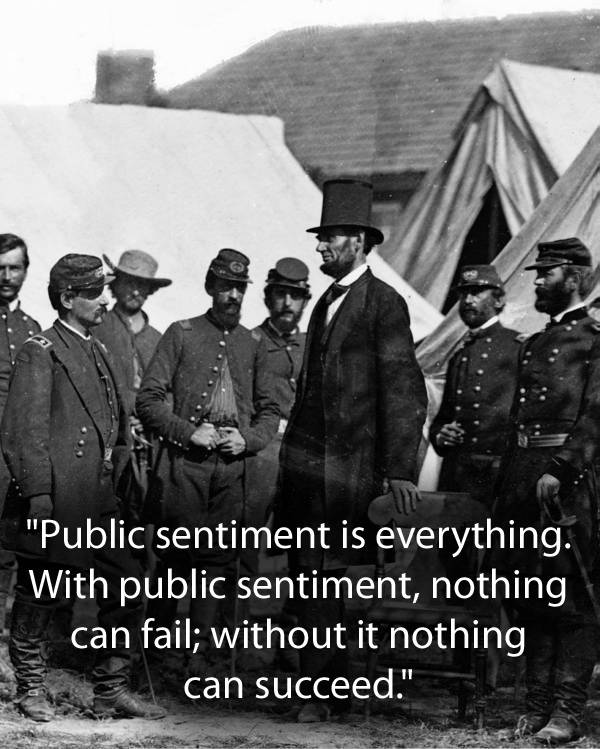 Abraham Lincoln Quotes On Public Sentiment
