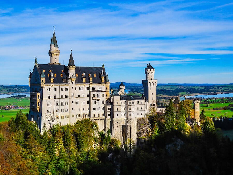 The Sleeping Beauty Castle In Germany