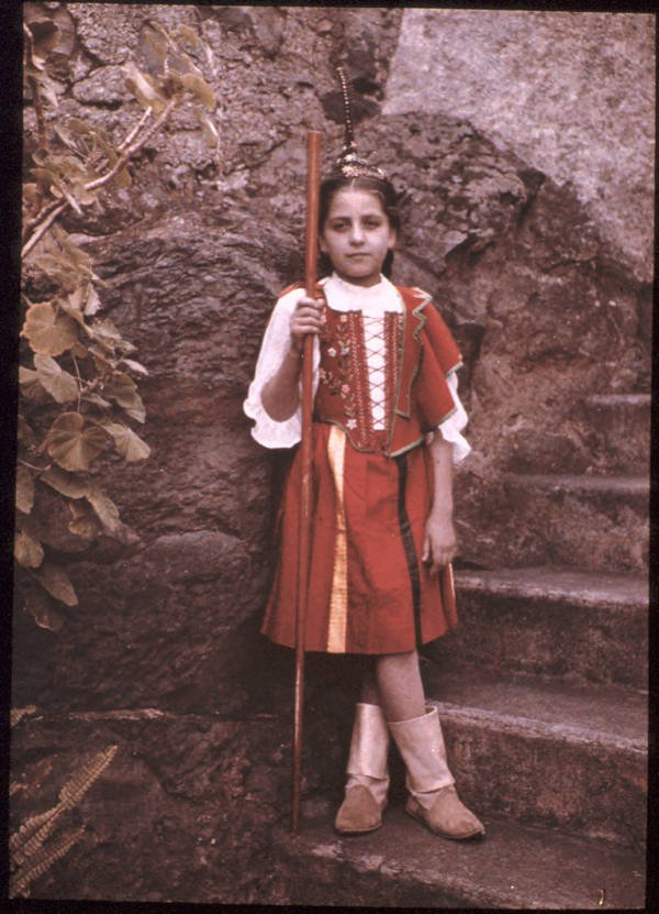 Old Color Photos Portuguese Girl