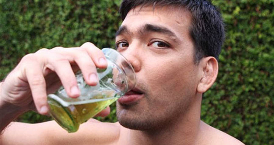 MMA Fighter Lyoto Machida Drinking Urine