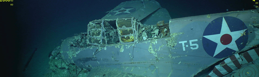 USS Lexington Wreckage