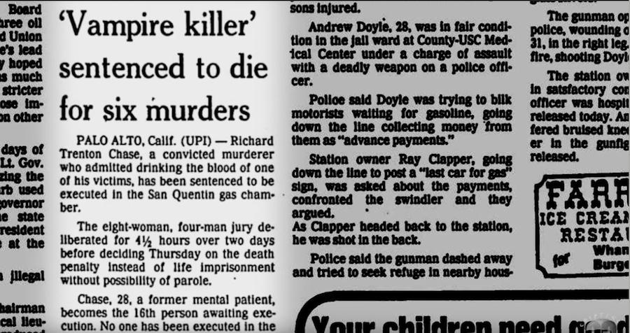 Vampire Killer Newspaper