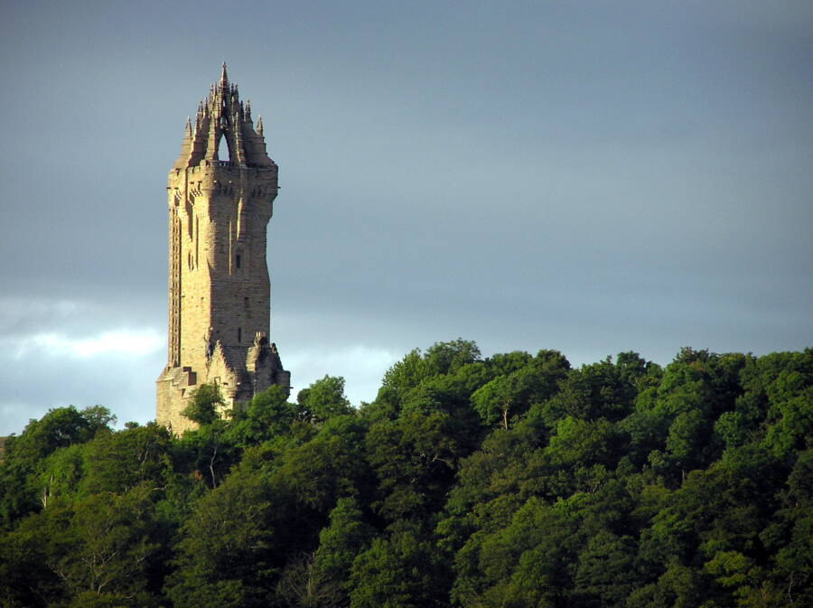 Wallace Monument In Scotland