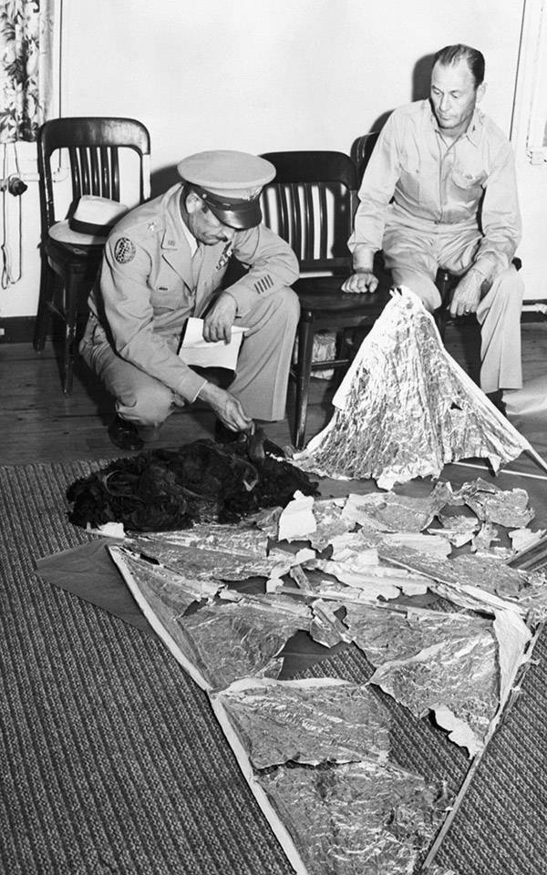 Officers At Roswell Crash