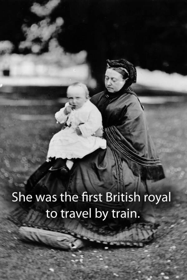 Queen Victoria Holding Child