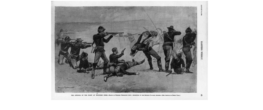 Wounded Knee Drawing