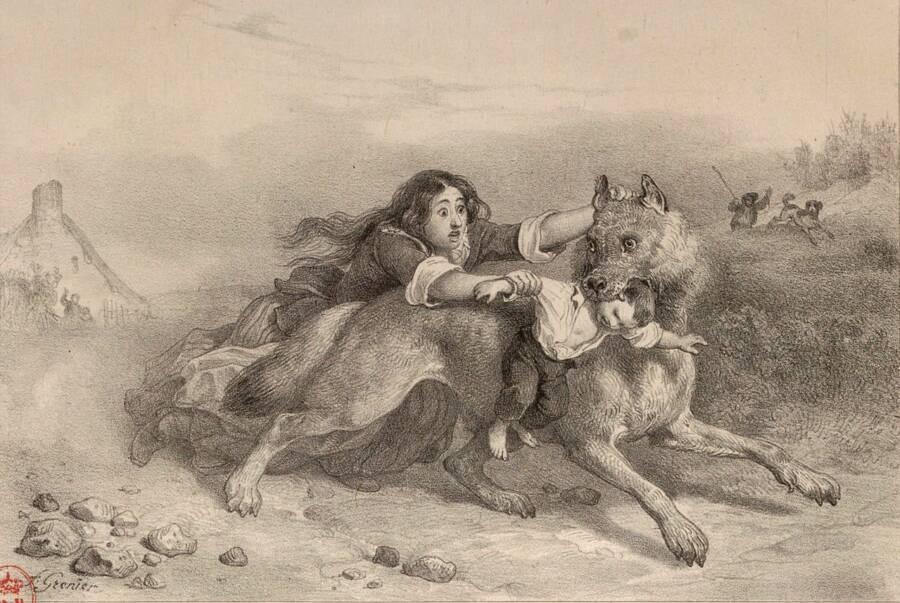 Beast Of Gevaudan With Child