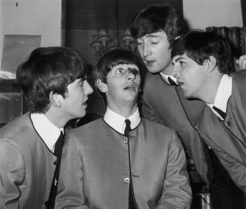 Beatles Backstage Photo