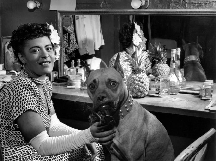 Billie Holiday Dog Backstage