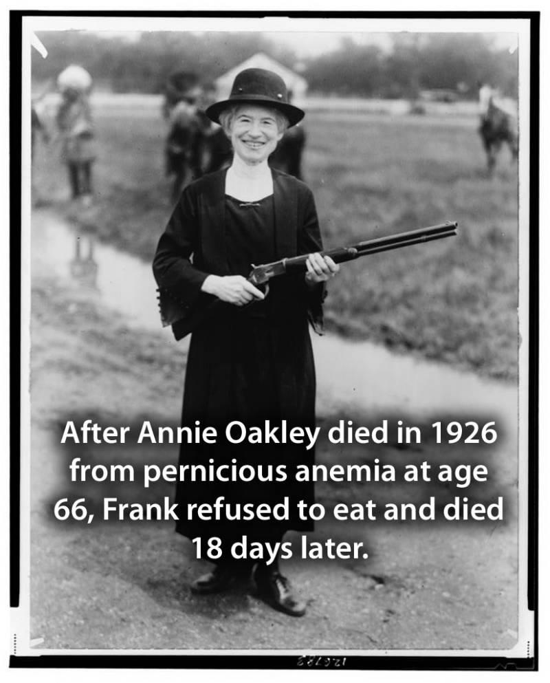 Elderly Annie With Gun