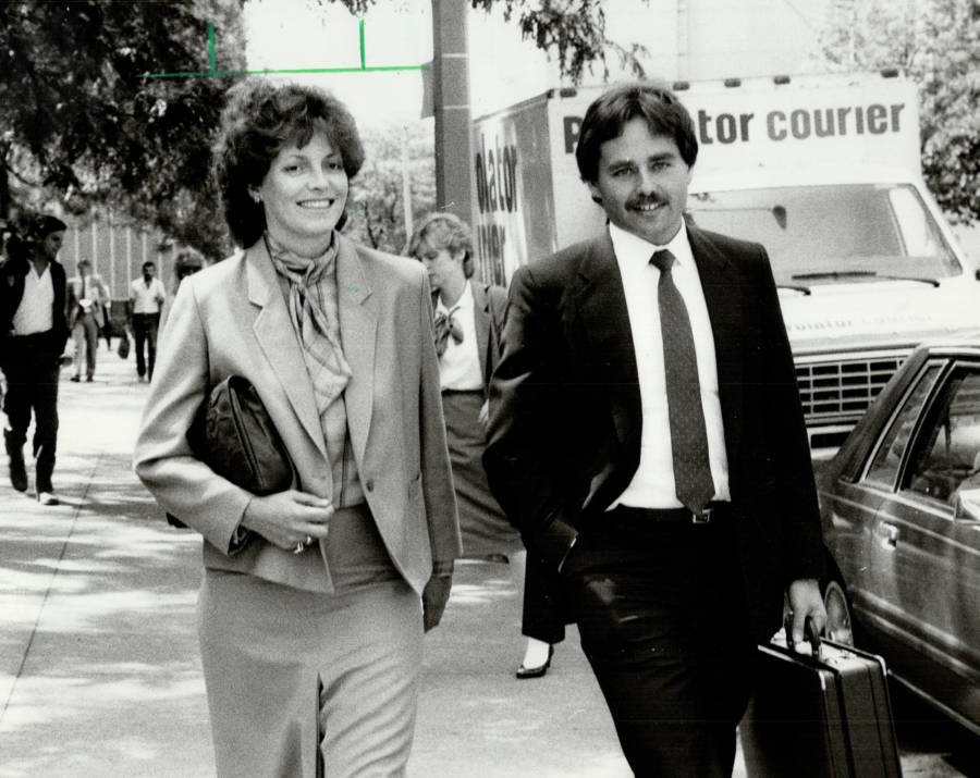 Cathy Smith Leaving Court