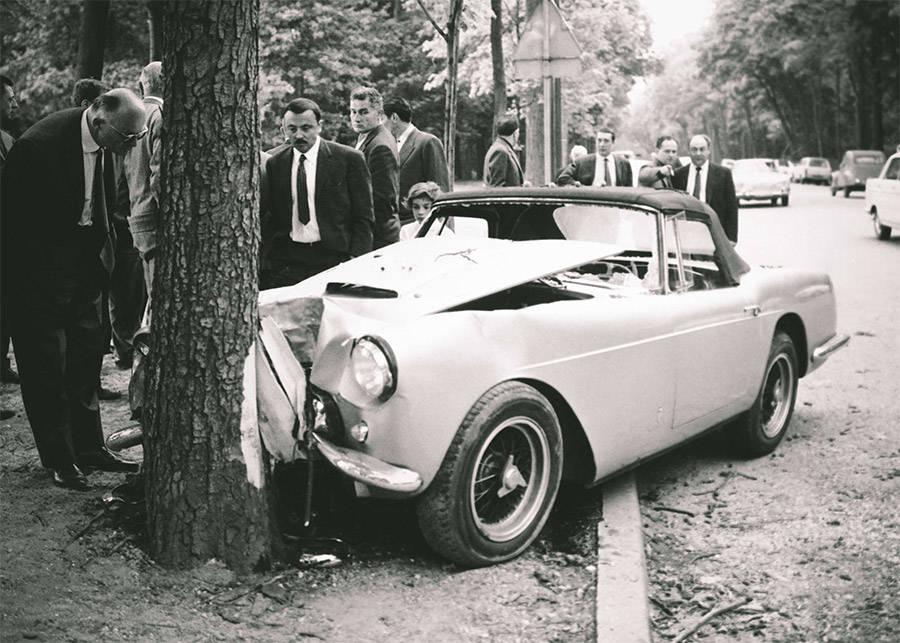 Porfirio Rubirosa Crashed Ferrari