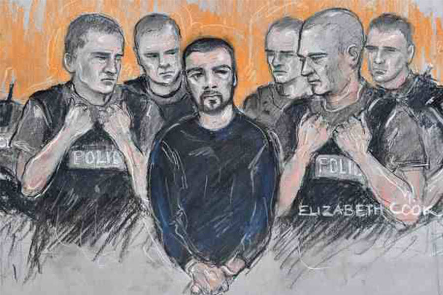 Dale Cregan Court Sketch