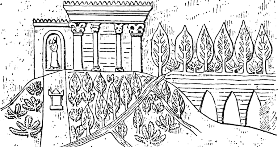 Depiction Of The Hanging Gardens Of Babylon
