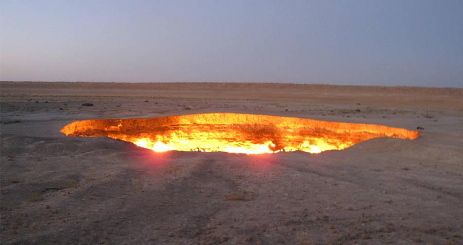 Door To Hell Sunset