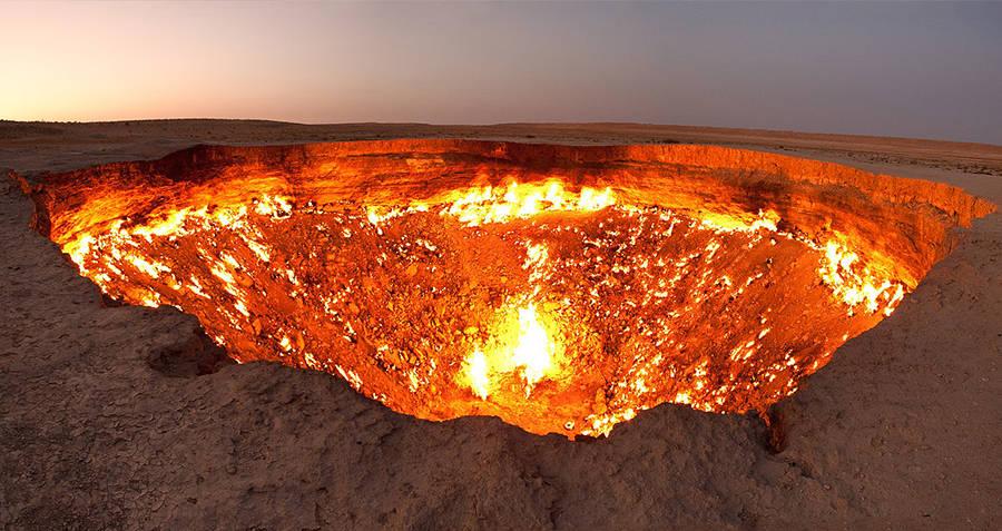 Door To Hell Darvaza Gas Crater