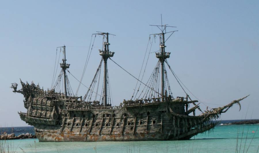 Flying Dutchman Prop In Pirates of the Caribbean
