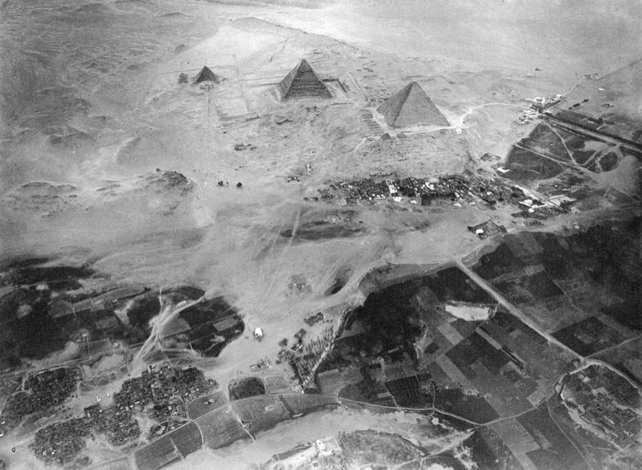 Egyptian Pyramids From Above