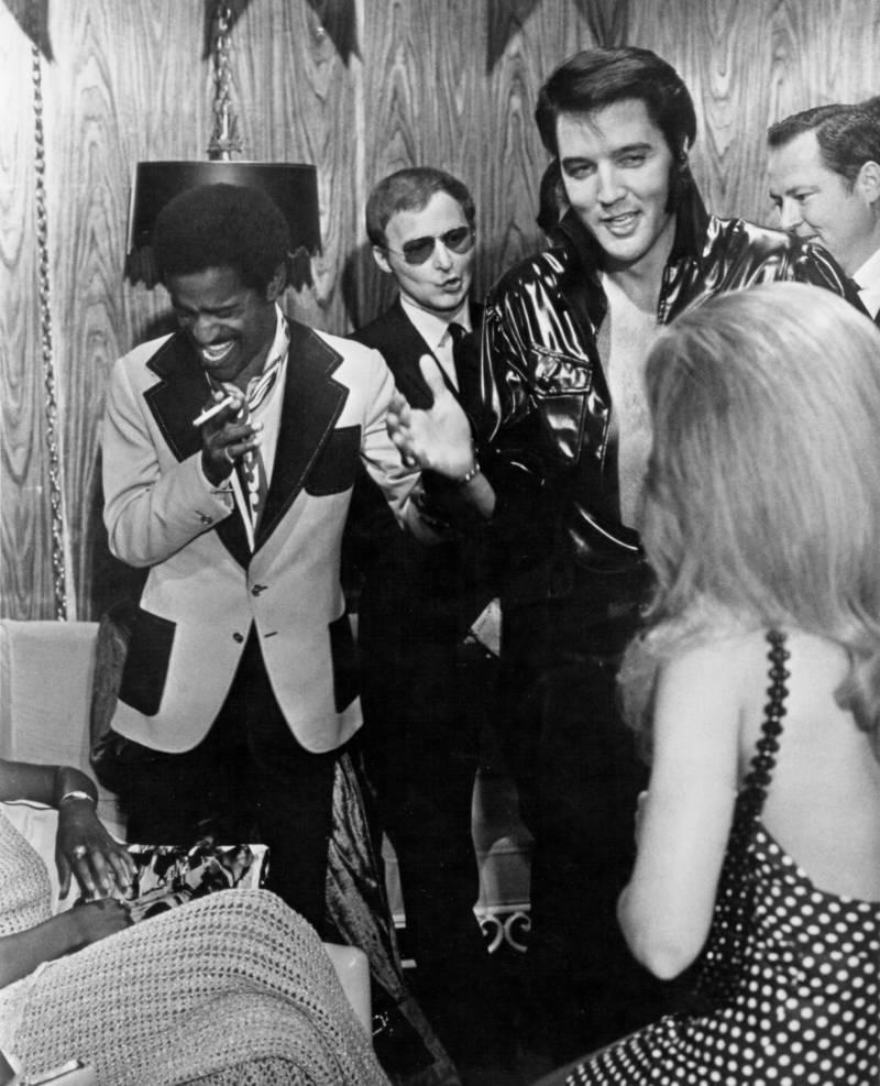 Elvis Presley And Sammy Davis Jr.