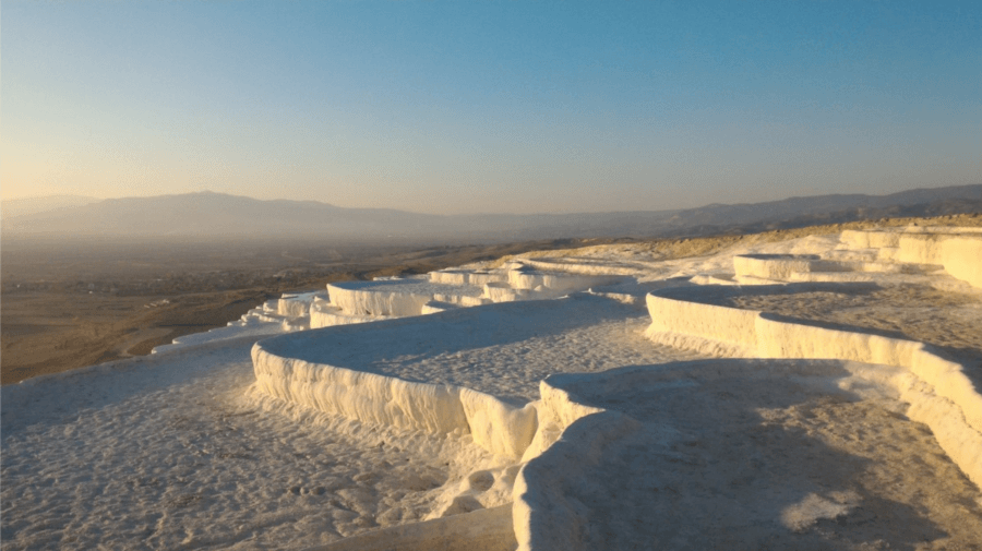 Empty Pamukkale Thermal Pools