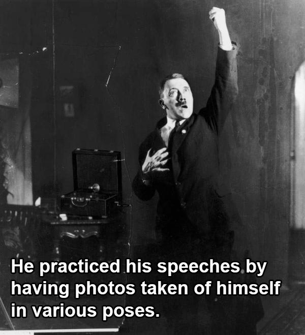 Hitler Practicing Gestures